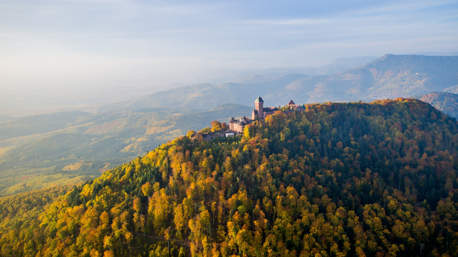 Château du Haut Koenigsbourg à l'automne
