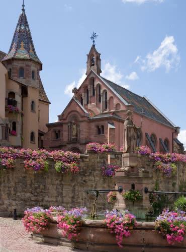 Place du Château Saint-Léon - Eguisheim