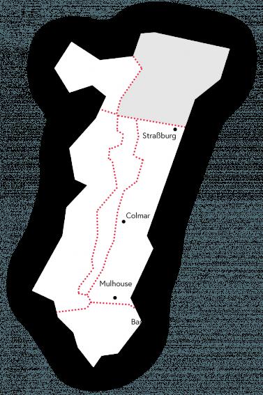 Elsass Karte Frankreich.Nordelsass Visit Alsace