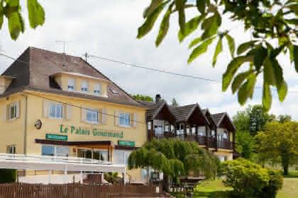 Hotel-Restaurant Le Palais Gourmand, Goersdorf, Elsass, Außenansicht